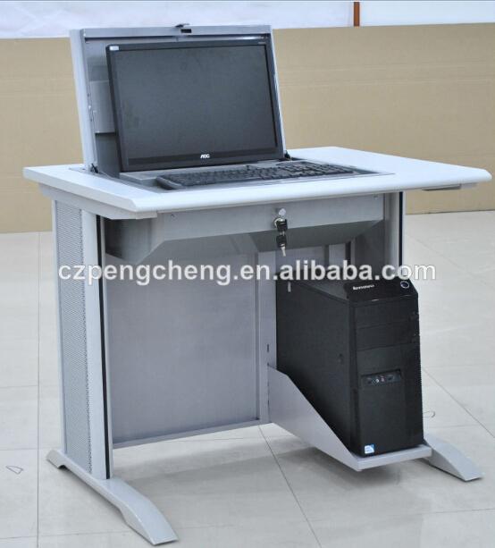 Partition flip top school computer desk for testing buy for Flip top computer desk