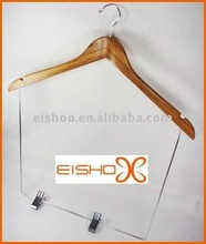 Eisho With Locking Pant Bar Garment Wood Hanger