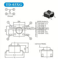 Top Quality 6mm tact switch for Car audio,car navigation systems,keyless entry systems