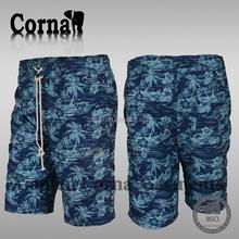 Mens 100% polyester running crossfit shorts wholesale custom elastic waist shorts for men