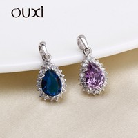 OUXI factory direct price necklace pendant crystals from swarovski