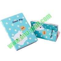 Cute Pig Pattern leather coach case for ipad air cover