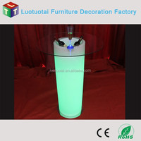Commercial high top lighting bar tables with ice bucket