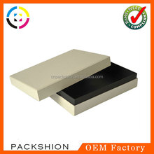 Customized cardboard shoulder type box with inner foxing for gift