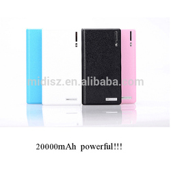 Simple-type Portable LED Light Cell Phone Charger 20000mah Power Bank Small Smart Mobile Charger