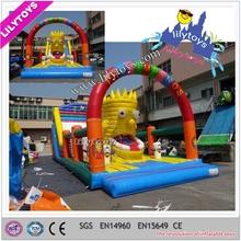 Guangzhou Giant inflatable amusement park slide / Giant inflatable slide for sale