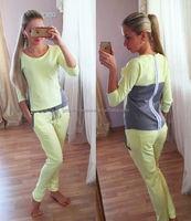 Tracksuit sweatshirt +Trouser spandex polyester plain sweat suits