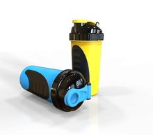 Latest item 600ml plastic shaker bottle, Custom design shaker bottle