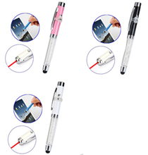 13.5CM Crystal Handle LED Light Metal Stylus Touch Pen for iPhone