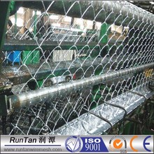 manufacturer 80x80mm chain link fence, 9 gauge used galvanized chain link fence