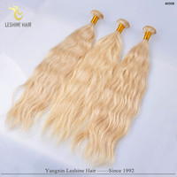 2015 Hot China Supplier Blonde Top Grade 8A Long Lasting Soft Remy No Tangle No Shedding indian blonde remy wavy hair