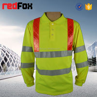 safety t-shirt 160gsm fabric 100% polyster safety t-shirt led glowing t-shirt