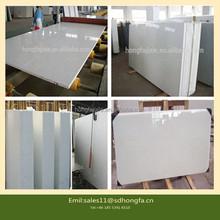 93% quartz man made white sparkle quartz stone countertop with high acid-base resistance