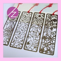 new fashion school supply paper laser cut bookmark with flower SQ-14