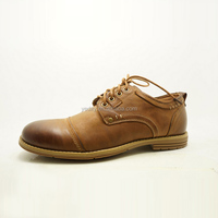 brown color new fashionable change new style men genuine cow leather derby casual shoes