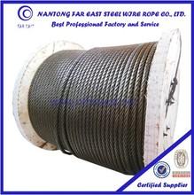 steel wire rope manufacturers Ungalvanized galvanized 6*29Fi steel wire rope for water well drilling machine