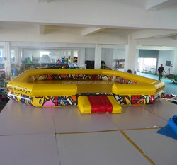 inflatable kids pool playground / giant kids funny playground with pool step