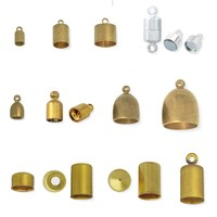Wholesale brass drawstring cord end for jewelry findings