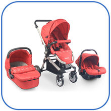 New and Luxury Design 3 in 1 Baby Stroller with EN1888:2012 certificate