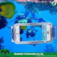 IPX8 40m underwater diving hard plastic waterproof case for iphone 6/6s