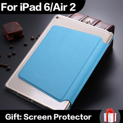 Tablet Luxury Funny Smart Magnetic Cover PU Leather Case For iPad 6 iPad Air 2