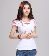 C12185A Delicate Desigh National Style Popular Lady T-shirt