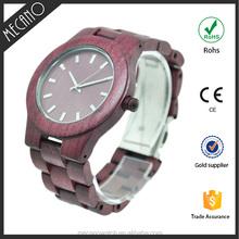 2015 Free Sample New Watch High Quality Quartz Watch Custom Natural Bamboo Wood Watch