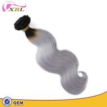 Full cuticle bestselling 1B/grey ombre 4 bundles of virgin Brazilian hair