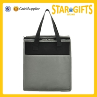 2015 Alibaba China wholesale simple design cheap non woven insulated cooler bag for frozen food