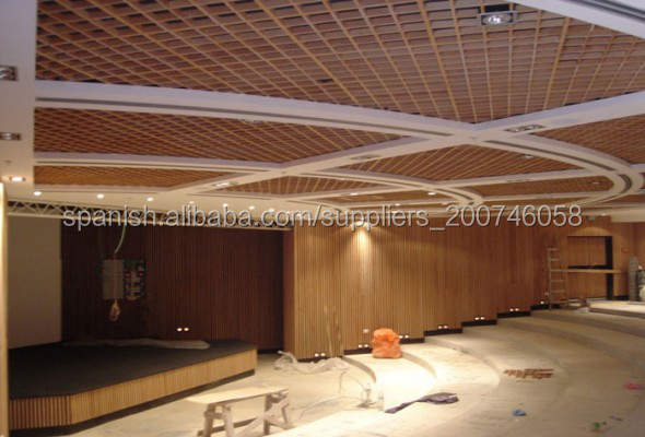 decoracin del techo de ventilacin alta calidad falso techo madera