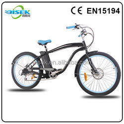 Fashion style electric bicycle cruiser importer with gear motor 36V 250W