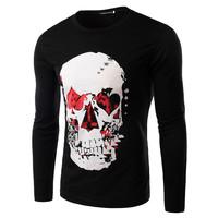 2015 Hot Sale Korean Style Male Personality Printing Design T-shirt M-XXL