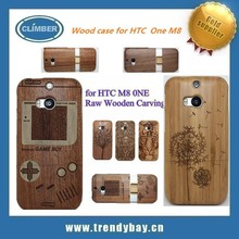 Exquisite Wooden bamboo phone case for HTC one M8