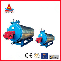 newest environment friendly high effcient industrial 0.5ton 1ton small fire tube automatic fuel natural gas steam boiler price