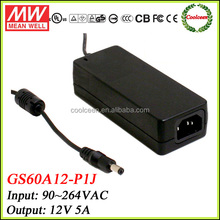 Meanwell GS60A12-P1J 60w power adapter 12v 5a