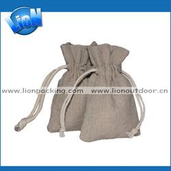 promotional handmade linen gift bags