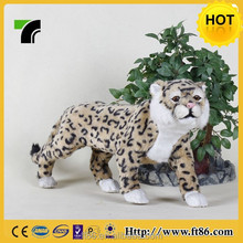 Synthetic fur covered plastic animated leopard model