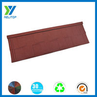Shingle wine red stone-coated steel color roofing tile