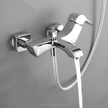 Ewin Elegant woodpecker Wall Mounted Bath Mixer Tap & Bathtub Faucet