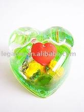 acrylic liquid heart shape paper weight