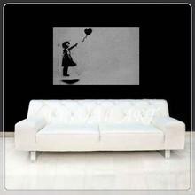 Bansky BALLOON GIRL Hope Love Framed Canvas Print Gift