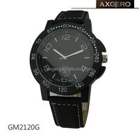 waterproof leather bracelet wrist watch