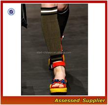 Wholesale Beautiful Plain Knit Brown Fall Leg Warmers/Cotton Striped Women Elegant Leg Warmers Shell0033