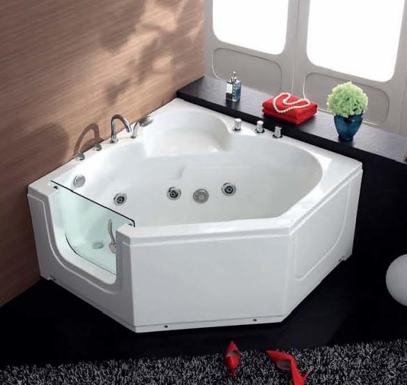 Hs b013a walk in tub shower combo corner tub shower combo for 6 tub shower combo