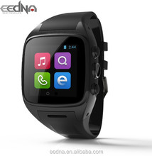"""Shenzhen oem smart watch factory 1.54"""" IPS panel stainless steel house silicon band mtk6572 android wifi 3g mobile watch phones"""