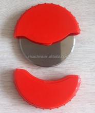 TCCC audity ICTI/SEDEX/BSCI/GSV/GOTS AUDIT Custom Logo Print Stainless Steel Round plastic Pizza Cutter with Lid