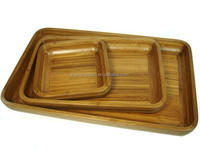 Bamboo Breakfast Food Serving Service Tray for Salad and Sushi suitable for Home and Hotel and Restaurant and Bar