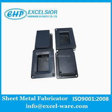 OEM custom aluminum die casting box with powder black coating