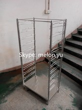 2015 New Style Utility Stainless Steel Tray Trolley/Tray Cart
