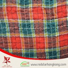 100% wrinkle free raw material Cotton yarn dyed cotton crepe fabric for shirt